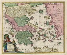 Europe, Greece and Balearic Islands Map By Nicolaes Visscher I
