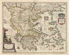 Europe, Balkans, Greece and Balearic Islands Map By Johannes et Cornelis Blaeu