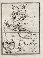 South America and America Map By Philip Briet