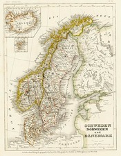 Europe, Scandinavia, Iceland and Balearic Islands Map By Joseph Meyer