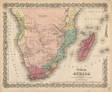 South Africa Map By Joseph Hutchins Colton