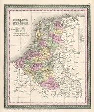 Europe and Netherlands Map By Thomas, Cowperthwait & Co.