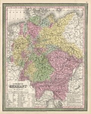 Europe, Germany and Baltic Countries Map By Thomas, Cowperthwait & Co.
