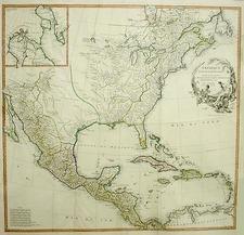 North America Map By Jean-Baptiste Bourguignon d'Anville