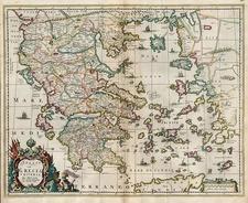 Europe, Mediterranean, Balearic Islands and Greece Map By Hugo Allard
