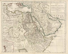 Asia, Middle East, Turkey & Asia Minor, Africa, North Africa and East Africa Map By Guillaume De L'Isle