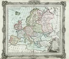 Europe and Europe Map By Louis Brion de la Tour
