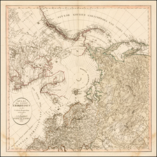 Northern Hemisphere, Polar Maps and Canada Map By Christian Gottlieb Reichard