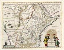 Africa, East Africa and West Africa Map By Willem Janszoon Blaeu