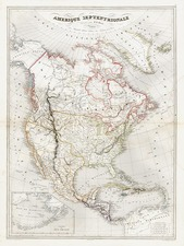 Texas and North America Map By Charles V. Monin
