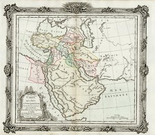 Asia, Central Asia & Caucasus, Middle East, Holy Land and Turkey & Asia Minor Map By Louis Brion de la Tour