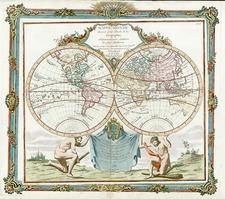 World and World Map By Louis Brion de la Tour