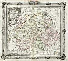 Europe and Switzerland Map By Louis Brion de la Tour