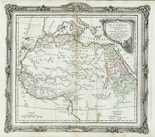 Africa, North Africa, East Africa and West Africa Map By Louis Brion de la Tour