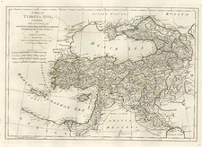 Europe, Asia, Central Asia & Caucasus and Turkey & Asia Minor Map By Samuel Dunn