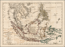 Asia, China, Southeast Asia and Philippines Map By Samuel Dunn