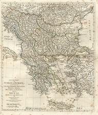Europe, Balkans, Turkey, Balearic Islands and Greece Map By Samuel Dunn