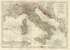 Europe, Italy, Mediterranean and Balearic Islands Map By Samuel Dunn