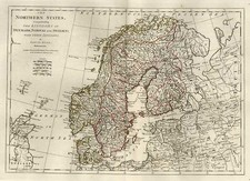 Europe, Baltic Countries and Scandinavia Map By Samuel Dunn