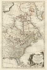 United States, North America and Canada Map By Samuel Dunn