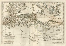 Europe, Mediterranean, Africa and North Africa Map By Samuel Dunn