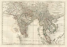 Asia, India, Southeast Asia and Central Asia & Caucasus Map By Samuel Dunn