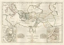 Europe, Mediterranean, Asia, Central Asia & Caucasus, Middle East and Holy Land Map By Samuel Dunn
