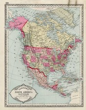 North America Map By H.C. Tunison