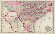 Texas Map By H.C. Tunison