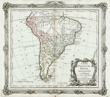South America Map By Louis Brion de la Tour