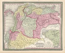 South America Map By Thomas, Cowperthwait & Co.