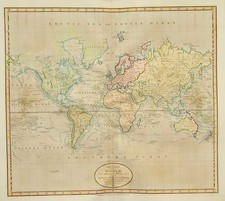 World and World Map By John Cary