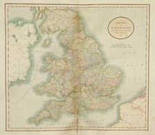 Europe and British Isles Map By John Cary