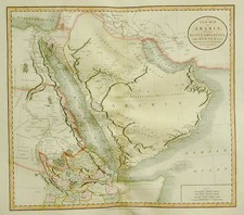 Asia, Middle East, Africa, North Africa and East Africa Map By John Cary