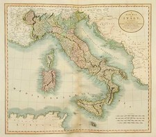 Europe, Italy, Mediterranean and Balearic Islands Map By John Cary