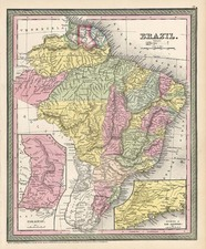 South America and Brazil Map By Thomas, Cowperthwait & Co.