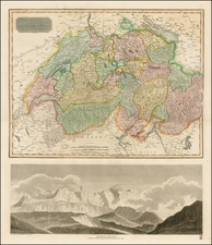 Europe and Switzerland Map By John Thomson