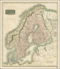 Scandinavia Map By John Thomson