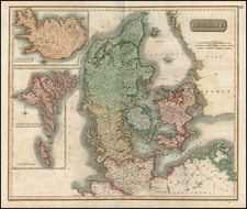 Atlantic Ocean and Scandinavia Map By John Thomson
