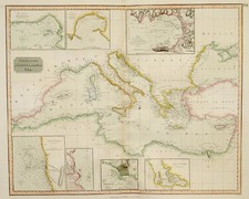 Europe, Mediterranean, Balearic Islands, Africa and North Africa Map By John Thomson