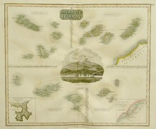 World and Atlantic Ocean Map By John Thomson