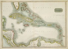 Southeast, Caribbean and Central America Map By John Thomson