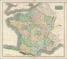 Europe and France Map By John Thomson