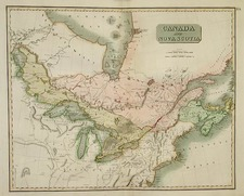 Midwest, Plains and Canada Map By John Thomson