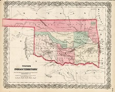 Plains and Southwest Map By G.W.  & C.B. Colton