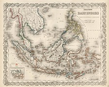 Southeast Asia and Other Pacific Islands Map By G.W.  & C.B. Colton