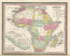 Africa and Africa Map By Thomas, Cowperthwait & Co.