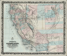 Southwest, Rocky Mountains and California Map By H.H. Bancroft & Company / William H. Knight