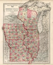 Midwest and Plains Map By H.H. Lloyd / Warner & Beers