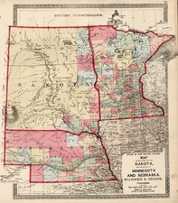 Midwest Map By H.H. Lloyd / Warner & Beers